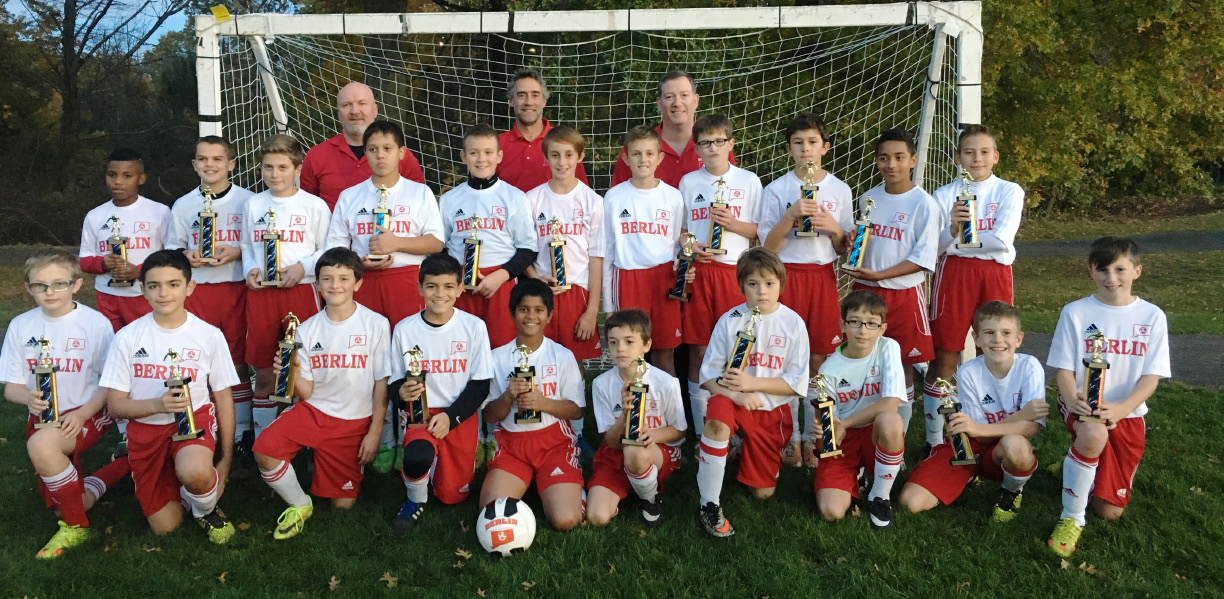 "FILE: The Berlin U-12 Boys Travel Soccer team took first place at the Rocky Hill ""Sylvie Poulin"" Columbus Day Tournament."