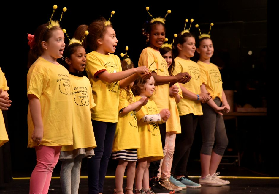 North Haven kindergarten students perform a song to kick-off the North Haven Education Foundation