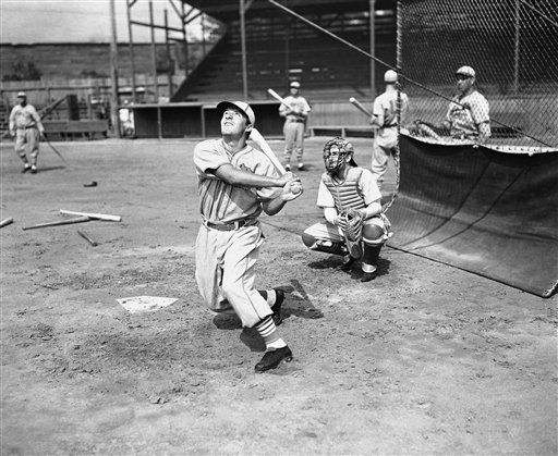 "Shown in photo is Joe ""Ducky-Wucky"" Medwick, St. Louis Cardinals slugging outfielder, won the award of the most valuable player of the National League, Nov. 9, 1937 in New York, it was announced by the Baseball Writers Association who made the award. Medwick polled 70 votes nosing out Gabby Hartnett, Cub's catcher and SPA who has 68. Medwick became the third cardinal to be honored in 1931 manager Frankie Frisch was picked, Dizzy Dean walked off with the award. The National League in hitting with an average. (AP Photo)"