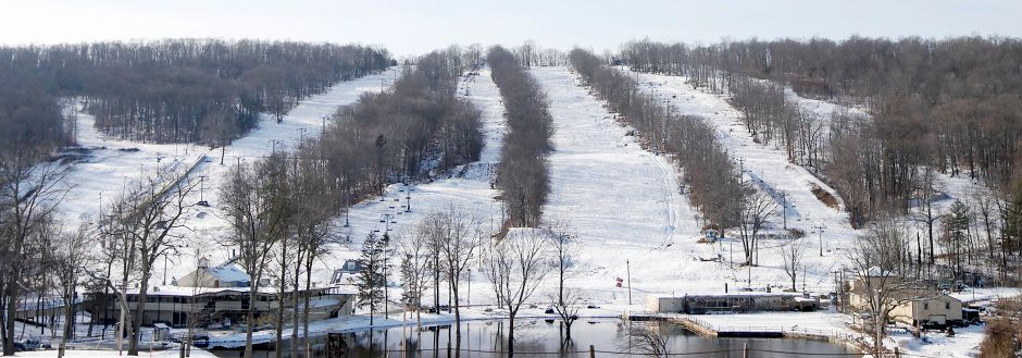Powder Ridge Mountain Park and Resort in Middlefield, pictured in December 2017. The town of  Middlefield says former building official Robert Meyers  failed to perform his duties in connection with building renovations at the resort. File photo, Record-Journal