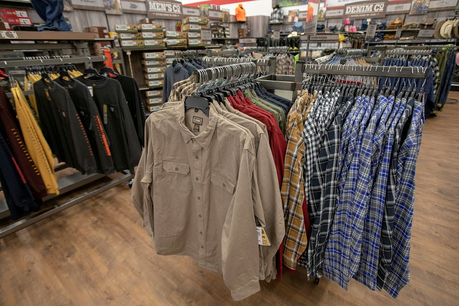 The clothing section at the new Tractor Supply Co. at 801 N. Colony Rd. in Wallingford, Mon., Nov. 5, 2018. The business is holding a soft opening this week and will have a grand opening this weekend. Dave Zajac, Record-Journal