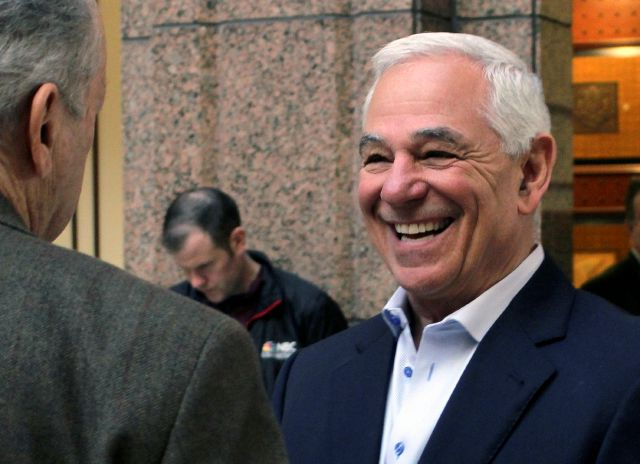 Former Major League Baseball player and manager Bobby Valentine waits to testify, Tuesday, Feb. 26, 2019, at the Capitol in Hartford, Conn., before the General Assembly
