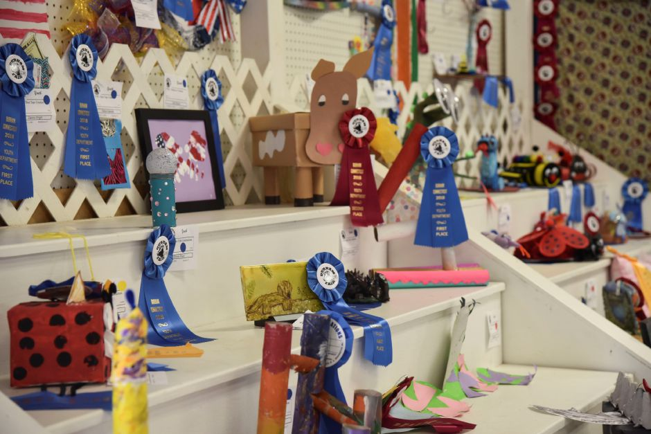 The youth barn features crafts and art made by local kids at the Durham Fair on Friday, Sept. 28, 2018. | Bailey Wright, Record-Journal
