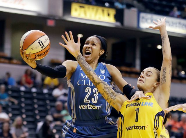 FILE - In this Aug. 30, 2017, file photo, Minnesota Lynx
