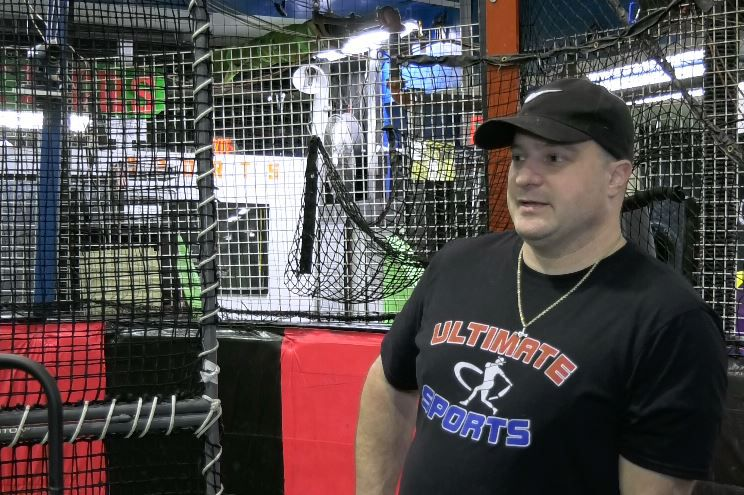 Paul Cambra, owner and coach at Ultimate Sports & Party Center, 120 Church St., Yalesville, Friday, Jan. 25, 2019. |Ashley Kus, Record-Journal