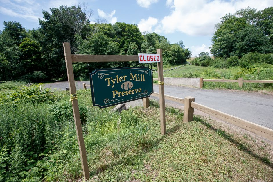 Tyler Mill Preserve in Wallingford still remains closed due to storm damage Thursday July 5, 2018 | Justin Weekes / Special to the Record-Journal