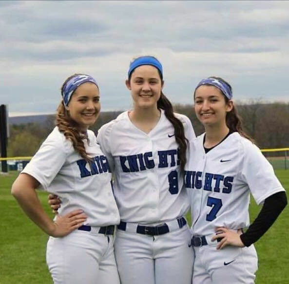 The three All-Record-Journal softball players from Southington are, from left, Emily Mankus, Natalie Wadolowski and Brenna Sarantides. | Photo courtesy of Davina Hernandez