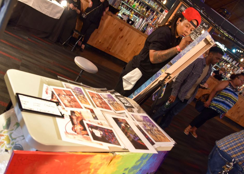 Around 40 artists, most from Connecticut, gathered at the Oakdale Theater in Wallingford Wednesday, August 21, 2019, for an annual RAW Artists event. The artists, which varied from painters to makeup artists and photographers, showcased their art in booths, and performers took the main stage. | Bailey Wright, Record-Journal