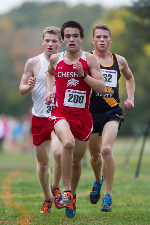 Cheshire's Brendan Murray placed second in the SCC cross country championship at Hammonasset State Park last year. The veteran standout is back for his senior season. | Justin Weekes, Special to the Record-Journal