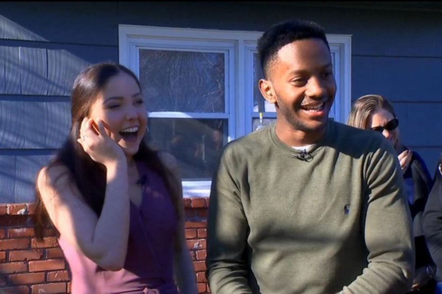 "Madison Ricci, 19, and Jaelin Highsmith, 22, meet for the first time on ""GMA."" 