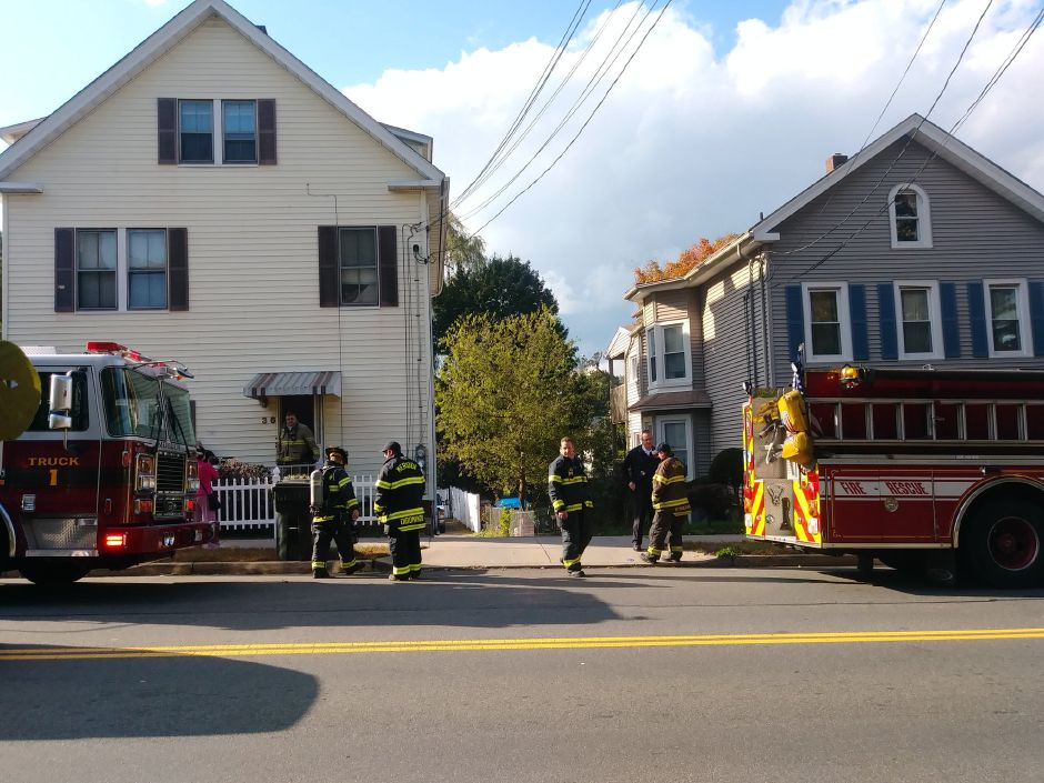 Three residents were reportedly displaced in an electrical fire at a Lewis Avenue home Tuesday afternoon. | Jeniece Roman, Record-Journal