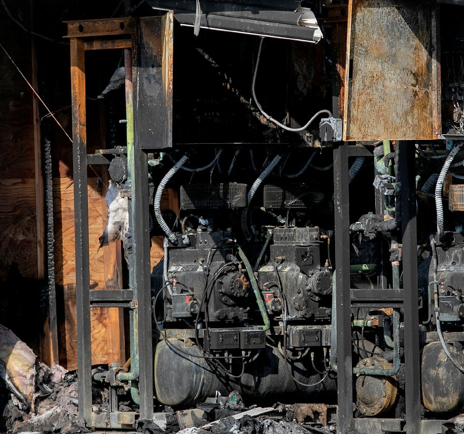 Equipment destroyed in a room on the west side of the former Tops Market in Southington, Thurs., Mar. 7, 2019. The business was destroyed by a blaze on Sunday. Dave Zajac, Record-Journal
