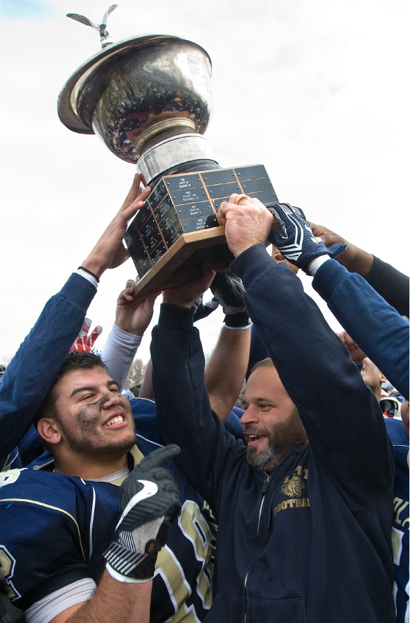 Coach Jason Bruenn and his Platt Panthers got the Stoddard Bowl Trophy back with Thursday