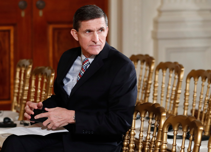 Documents released in a congressional inquiry show former National Security Adviser Michael Flynn was paid more than $33,750 by RT, Russia's government-run television system, for appearing at a Moscow event in December 2015. Flynn had retired months earlier as head of the U.S. Defense Intelligence Agency. | Associated Press
