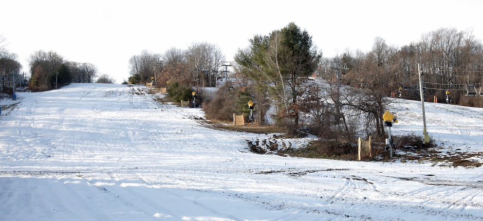 Partial view of trails at Mount Southington Ski Area in Southington, Monday, Dec. 11, 2017. Mount Southington opens for the season this Saturday. Dave Zajac, Record-Journal