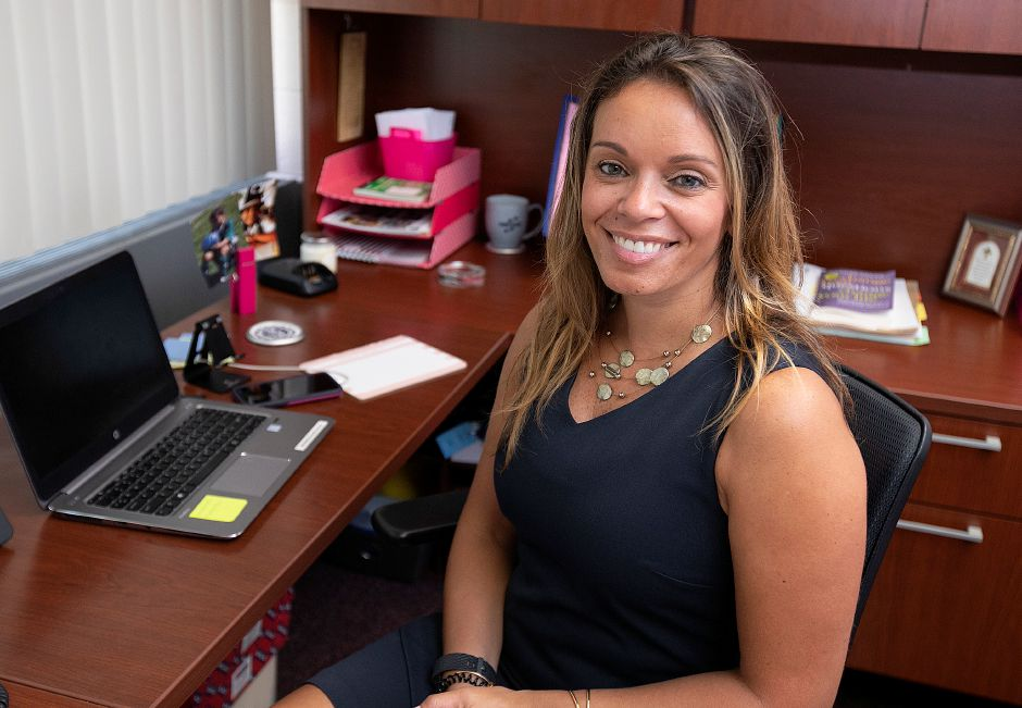 Lysette Torres is the new principal at Thomas Hooker Elementary School in Meriden, Monday, August 27, 2018. Dave Zajac, Record-Journal