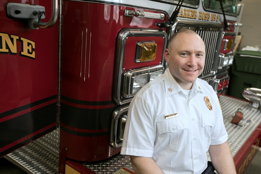 Capt. Brendan Noonan, seen at the Broad Street fire station, has been promoted to assistant chief. Dave Zajac, Record-Journal