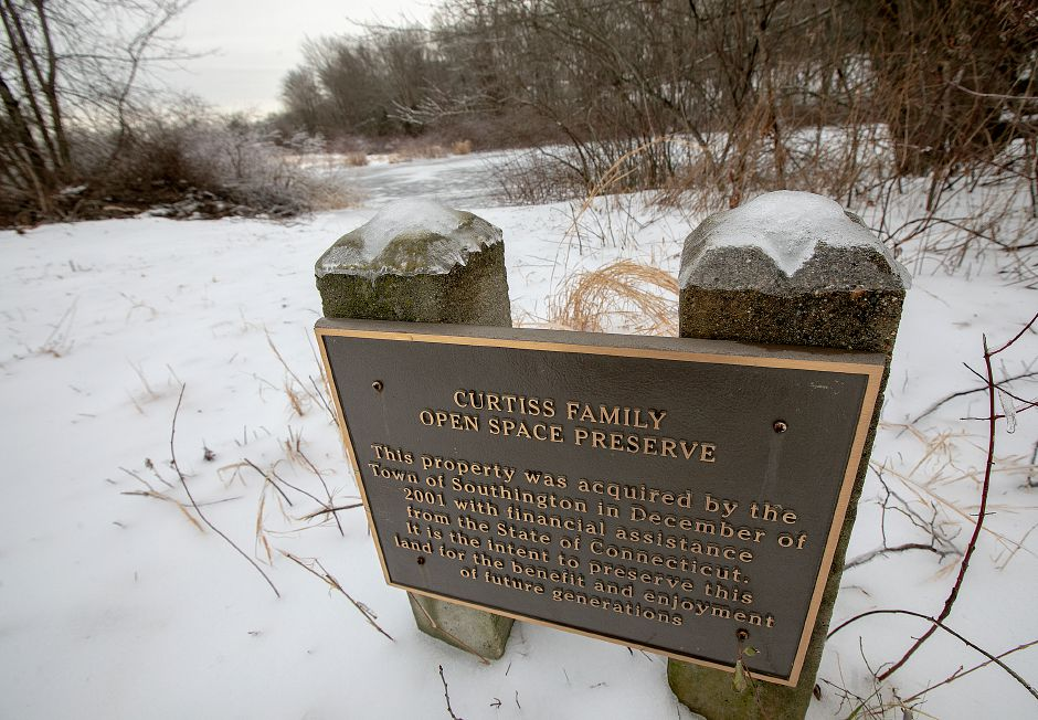 The Curtiss Farm property located between Blatchley Avenue and South End Road in Southington, Wed., Jan. 23, 2019. Town leaders are hoping to minimize the loss of trees during sewer line installation work on the Curtiss Farm property. Dave Zajac, Record-Journal