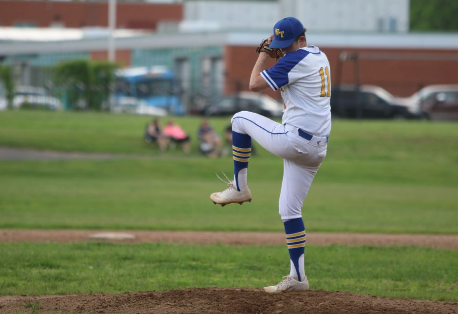 Wilcox Tech starter Brian Carabetta worked into the sixth inning of Monday's 8-0 shutout of Norwich Tech in the CTC Tournament quarterfinals in Meriden | Spencer Davis, R.ecord Journal