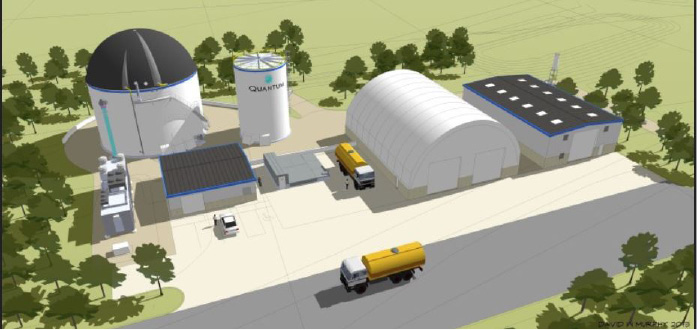 A rendering of the Quantum Biopower anaerobic digester proposed for Southington. | Quantum Biopower