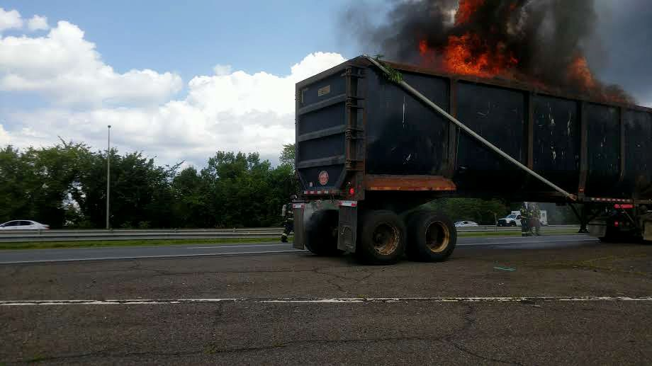 Fire crews are responding to a reported truck fire Friday on Interstate 691 eastbound. | Michael Gagne, Record-Journal