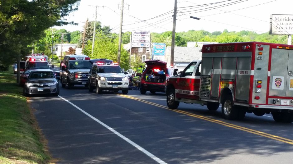 One person was killed in a motorcycle crash on Old Colony Road in Meriden on Saturday, May 20, 2017. | Lauren Sellew, Record-Journal