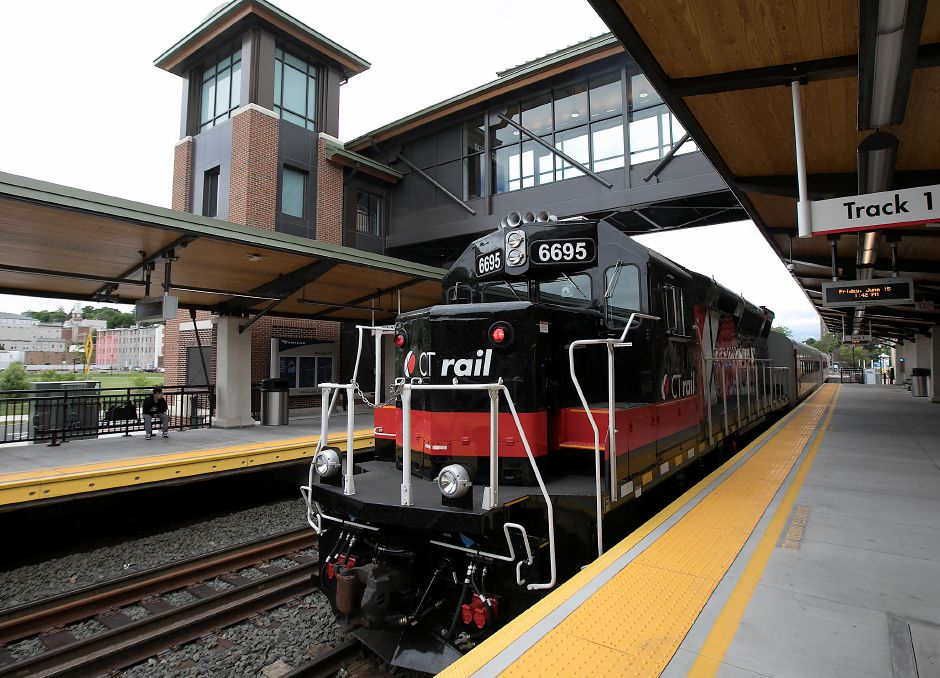 A CTrail commuter train pulls out of the Meriden train station enroute to New Haven, Friday, June 15, 2018. Dave Zajac, Record-Journal