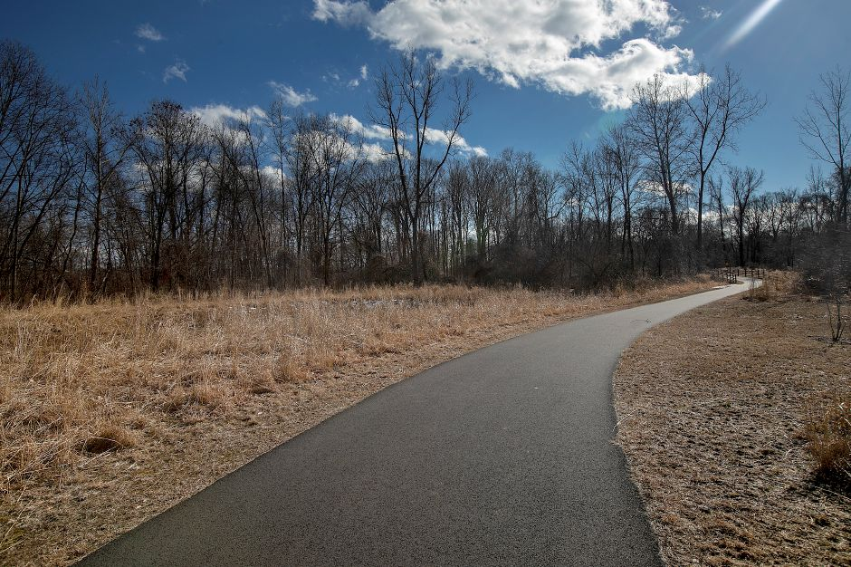 The Quinnipiac River Linear Trail, Tues., Feb. 26, 2019.  Work on a paved recreational trail from the Wallingford Senior Center to the Community Lake area is expected to start in April. Record-Journal