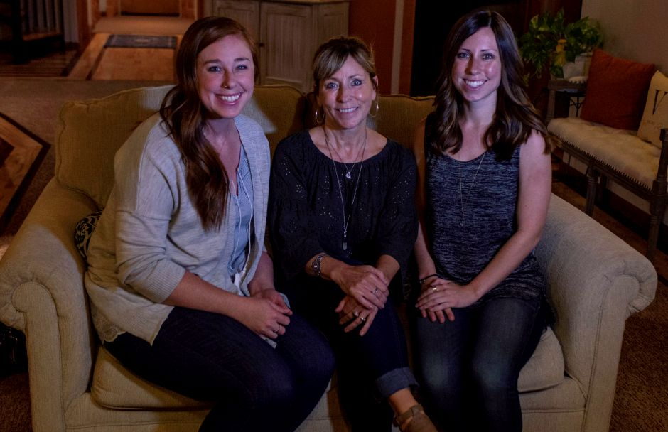 Co-owners of Verbena Holistic Center, Julie Wallace (center) and her two daughters Bethany (left) and Morgan Wallace, all of Southington.