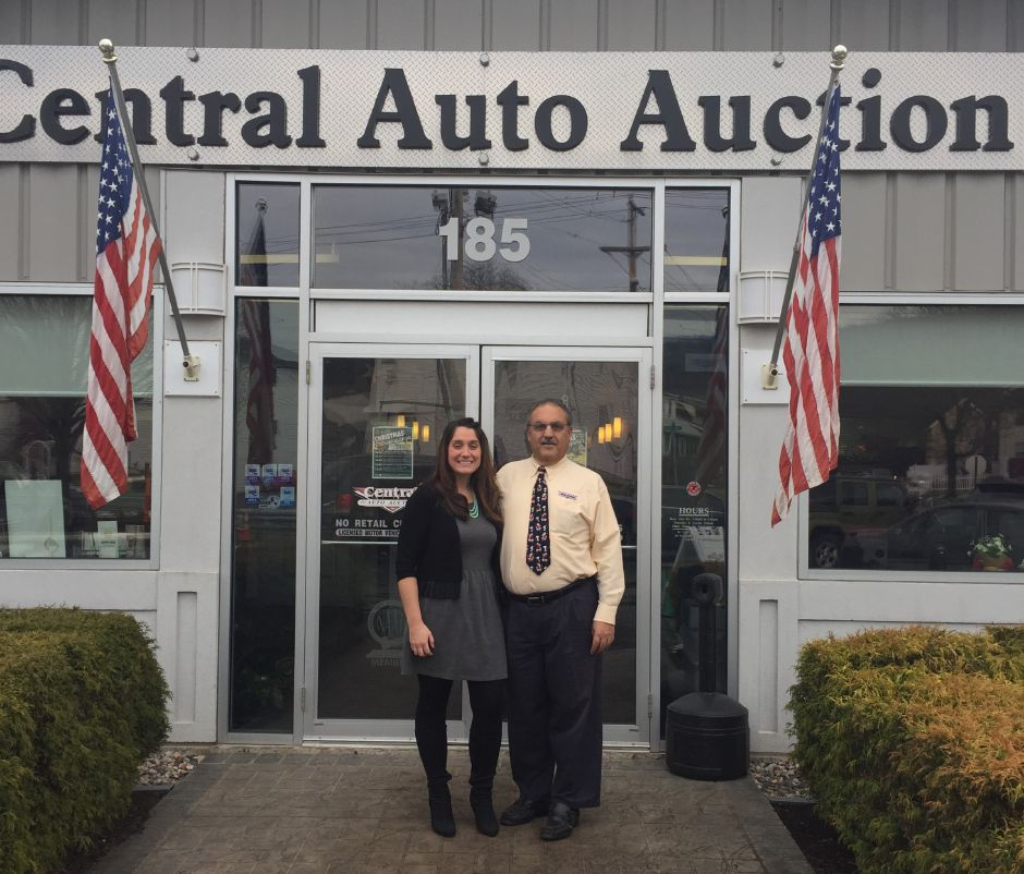 Christina Tatta and her father, Peter Saldamarco, at Central Auto Auction, the family
