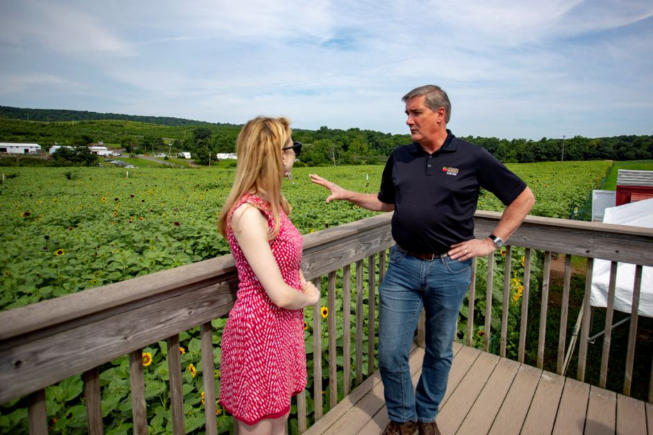John Lyman of Lyman Orchards in Middlefield talks with Record-Journal digital content producer Ashley Kus about this year