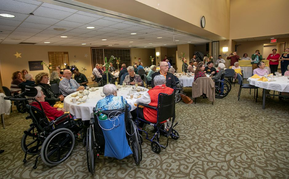 "Masonicare Health Center honors 19 centenarian residents, people who have lived for at least a century, during a ""Centenarian Celebration"" at Masonicare in Wallingford, Wed., Oct. 16, 2019.   Dave Zajac, Record-Journal"