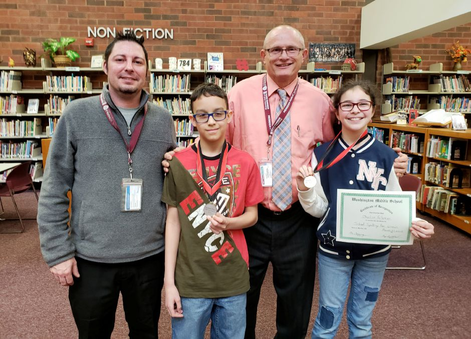 The Washington Middle School spelling bee champion, sixth-grader Charlize Pelletier. Charlize went on to compete against students from Meriden's elementary and middle schools in the 2018 Meriden Record Journal Spelling Bee. | Contributed photo