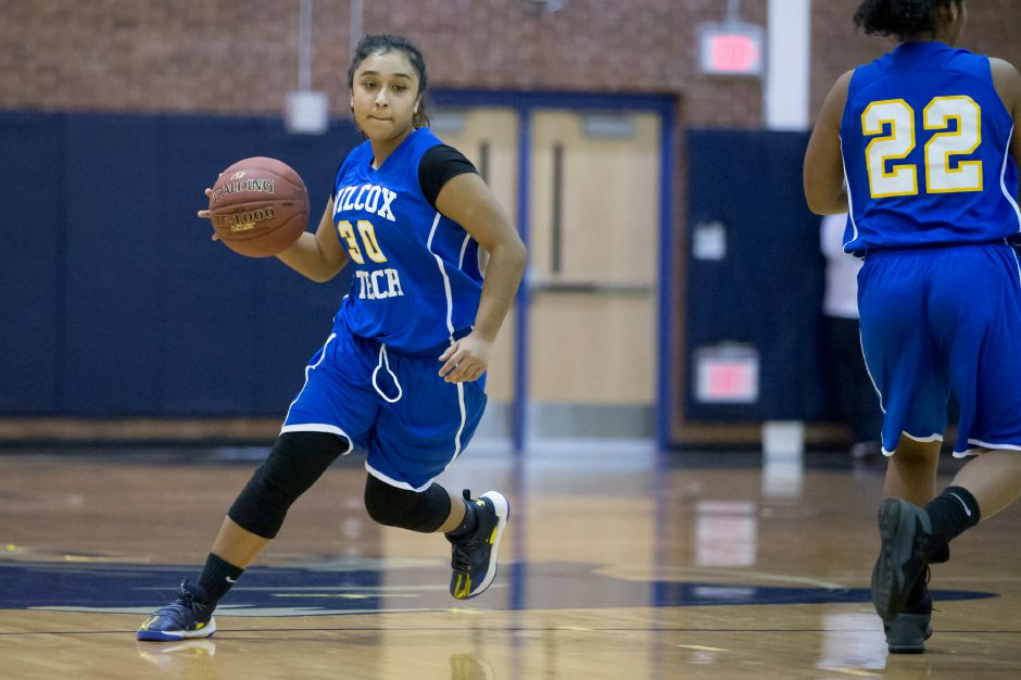 Tatiana Robles scored 12 points for Wilcox Tech in its 37-23 victory Thursday over Holy Family in Baltic. | Record-Journal file photo