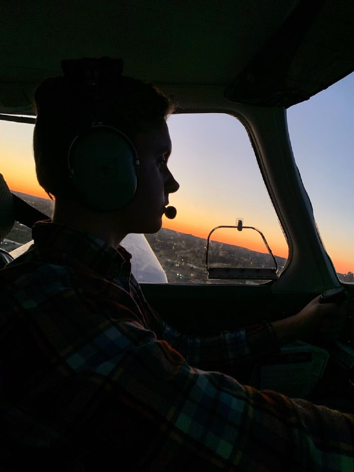 Bryce Weikyrkas, 17, works to get his pilots license with Meriden Aviation Center. | Photos courtesy of Faith Lee