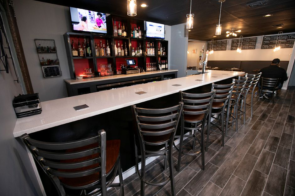 The bar at Americansoul Kitchen Bar at 164 Scott St. in Meriden, Tues., Nov. 12, 2019. Dave Zajac, Record-Journal