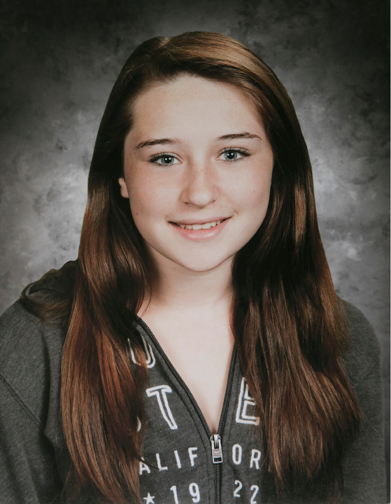 "A portrait of Olivia Fusco when she was a student at John F. Kennedy Middle School. Olivia Fusco, 14, and her friend AnnMarie ""Annie"" Olender, 16, died in a tragic car accident on I-84 in 2015.  