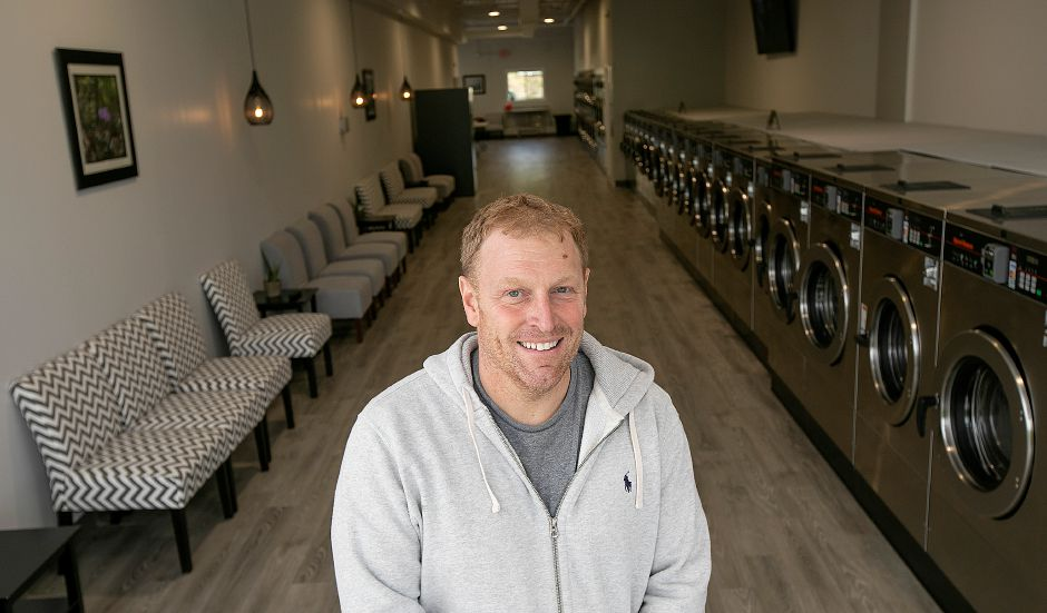 Chris Wilson, owner of the new Ultra Coin 2 Laundromat, 1118 N. Colony Rd., Wallingford, Tues., May 7, 2019. Dave Zajac, Record-Journal
