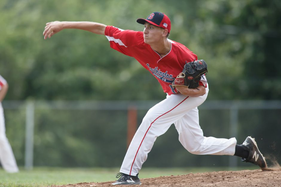 Ryan Henderson threw five scoreless innings and struck out six in the Southington Shock's 7-0 CCBL win Monday night over the Wallingford Silver Storm at Pat Wall Field. Record-Journal file photo