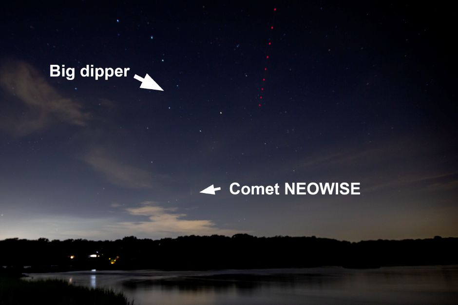 To find comet NEOWISE, look for the big dipper in the northwestern sky, then move your vision down towards the horizon. | Richie Rathsack, Record-Journal
