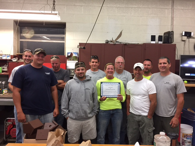 Parks and grounds crew received an award for their work on the new pathway. | Greg Starr, contributed