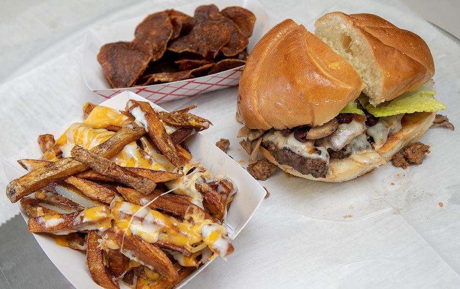A bacon chili cheeseburger with fresh cut fries available at the new Mike and Larry's Route 5 Kitchen at 628 S. Colony Rd. in Wallingford, Fri., Jan. 25, 2019. Dave Zajac, Record-Journal