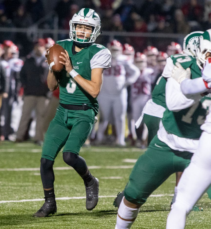 In his first year as Maloney's starting quarterback, sophomore Angel Arce has completed 133 of 225 passes for 1,882 yards and 26 touchdowns.Aaron Flaum, Record-Journal