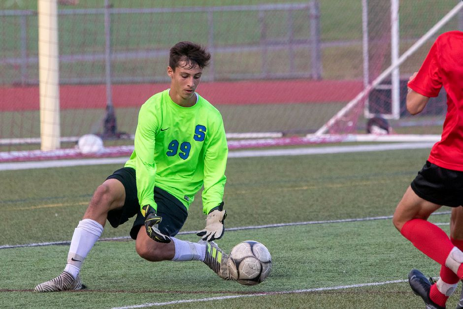Ryan Lunn notched his second straight shutout Saturday as the Southington boys soccer won 2-0 at Bristol Central. Aaron Flaum, Record-Journal