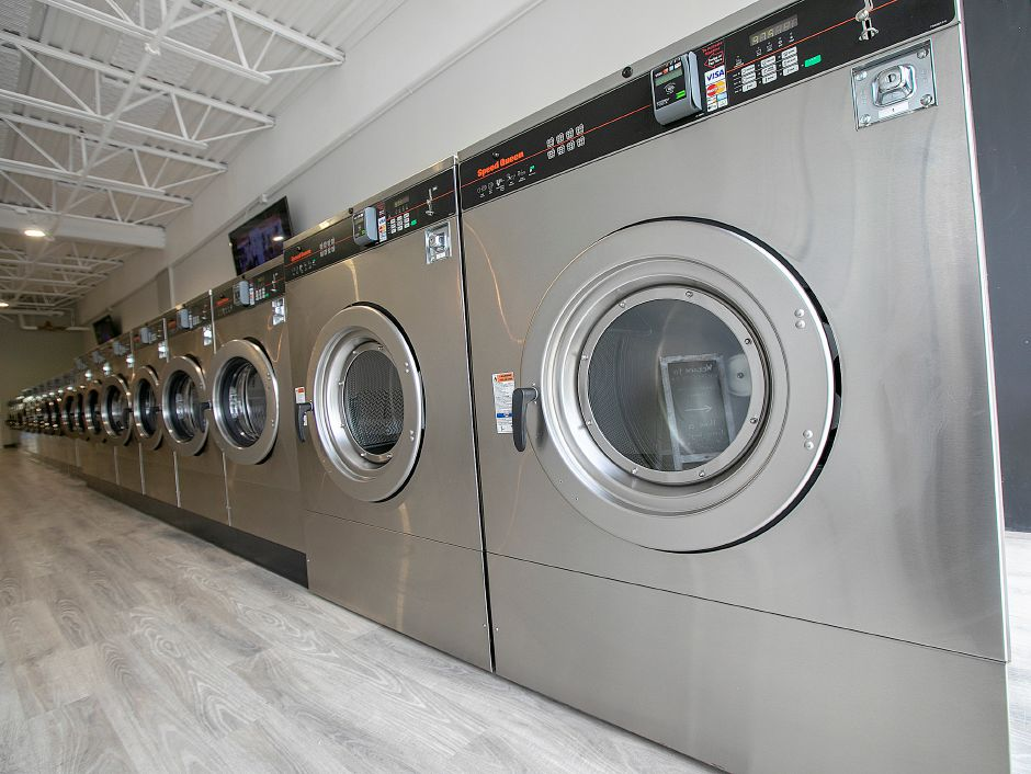 Two 80-pound capacity machines at Ultra Coin 2 Laundromat, 1118 N. Colony Rd., Wallingford, Tues., May 7, 2019. The new business features 24 washers and 26 dryers. Dave Zajac, Record-Journal