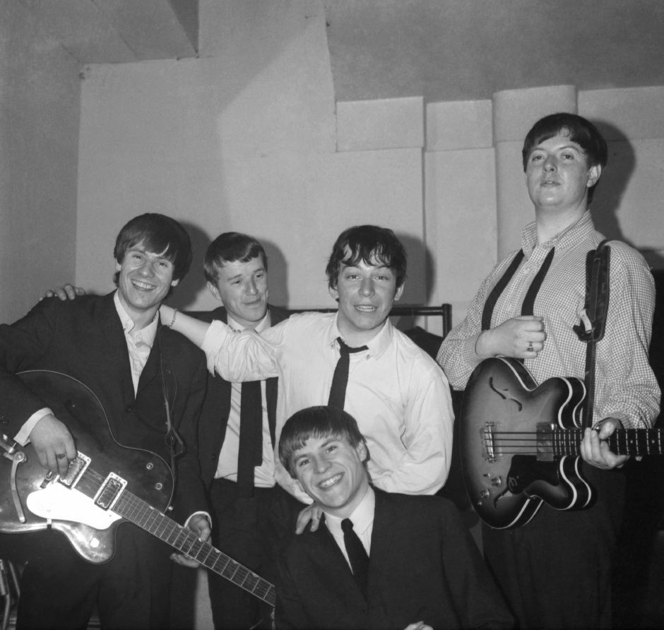 "British music group The Animals are seen around Jul. 1, 1964. L-R: Hilton Valentine, John Steel, Eric Burdon and Chas Chandler. In the front is Alan Price. The Animals record ""House of the Rising Sun"" was at the top of the pop chart on June 29. It is one of the longest singles on record, playing for 4 minutes and 29 seconds. The band are originally from Tyneside. (AP Photo)"