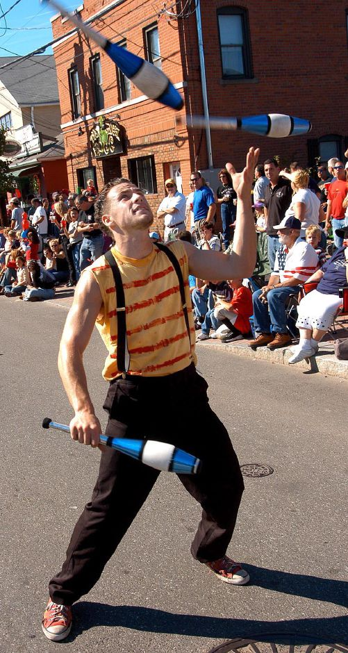 Juggler Jason Pipitone entertains the crowd at the annual Apple Harvest Festival held on Sunday in Southington.