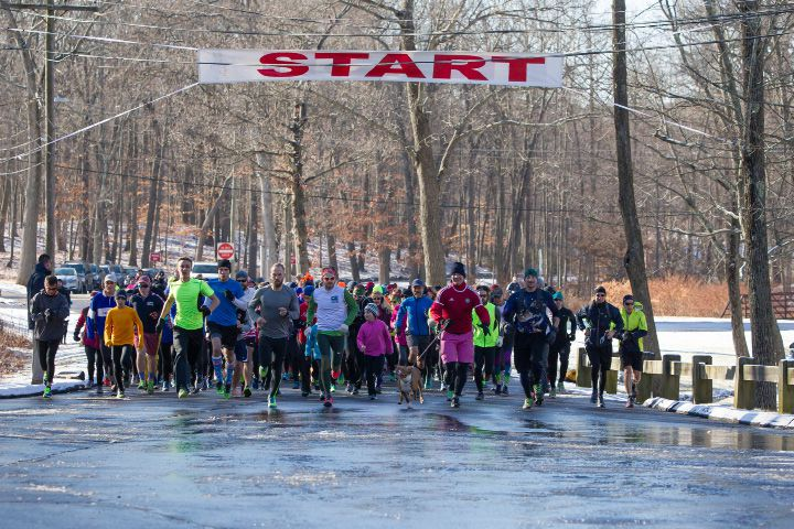 The 48th Bernie Jurale Tradition Run to Castle Craig at Hubbard Park in Meriden Jan. 15, 2017 | Justin Weekes / For the Record-Journal