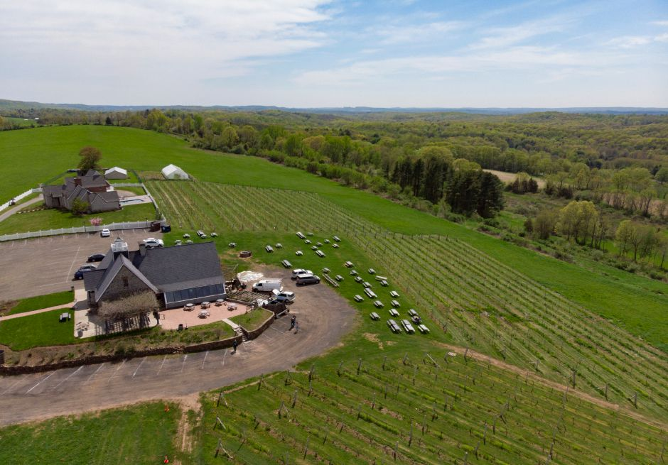 A look at Gouveia Vineyards in Wallingford on a warm spring day, May 9, 2018. | Richie Rathsack, Record-Journal