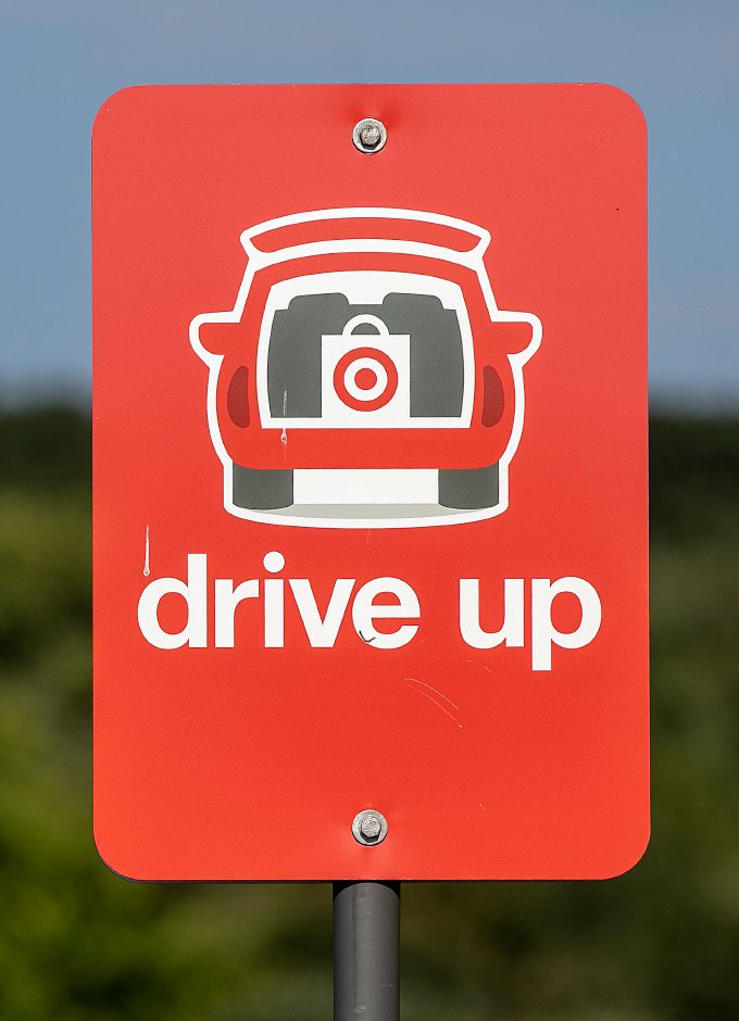 A sign directs Parking for Drive-Up shopping customers at Target in Southington, Fri., Aug. 16, 2019. The retail chain is looking for Planning and Zoning Commission approval to install lights and other signifiers for its Drive-Up shopping service where customers can get items they've ordered online. Dave Zajac, Record-Journal